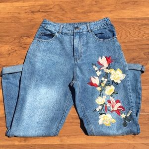 Embroidered Jeans by Paper Heart